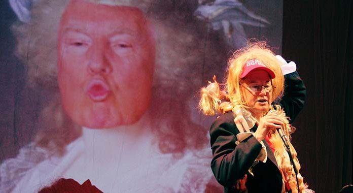 Karen Finley plays Donald Trump, Hillary Clinton and a Unicorn in her new show