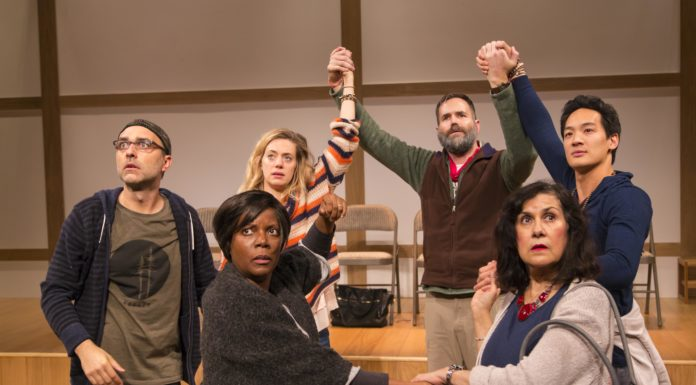 Playwright Bess Wohl's play is set at a silent retreat.