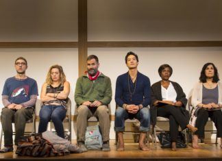 This highly-acclaimed play takes place at a silent retreat