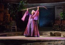 """Kate Burton plays """"Prospera"""" in the Old Globe's production of """"The Tempest"""""""